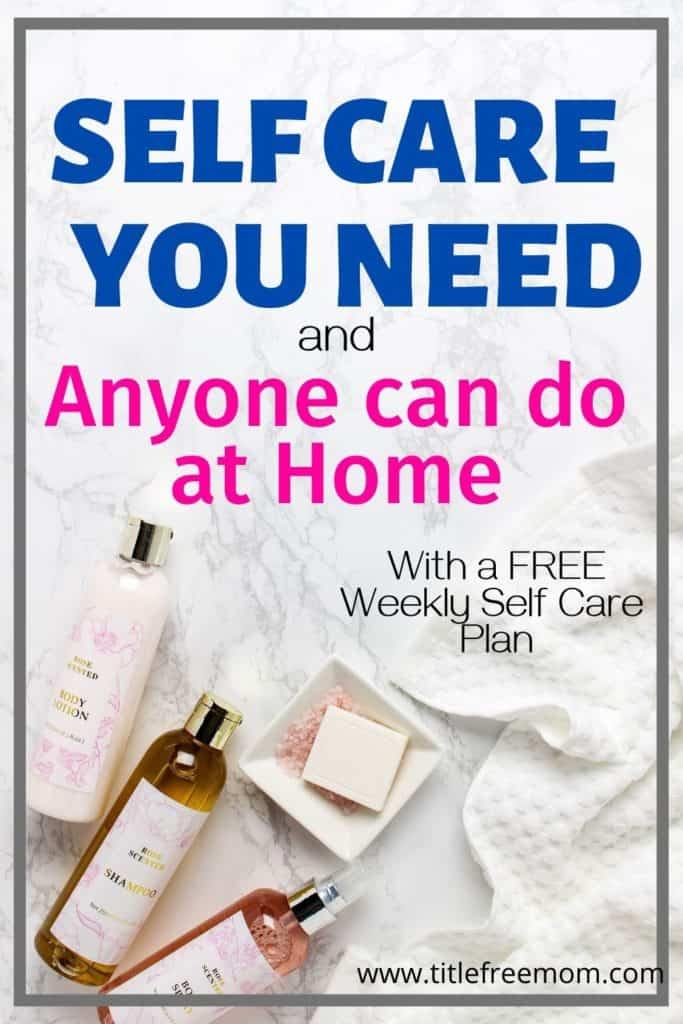 Self Care Check list