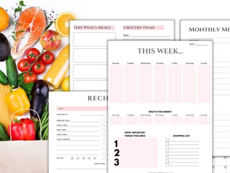 Free Printable Weekly Meal Planning Template With Grocery List