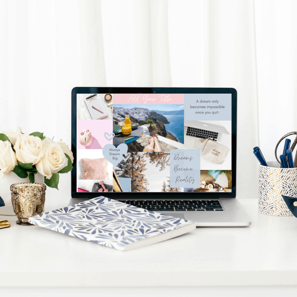 Digital vision board templates. Create your own dream board in minutes.