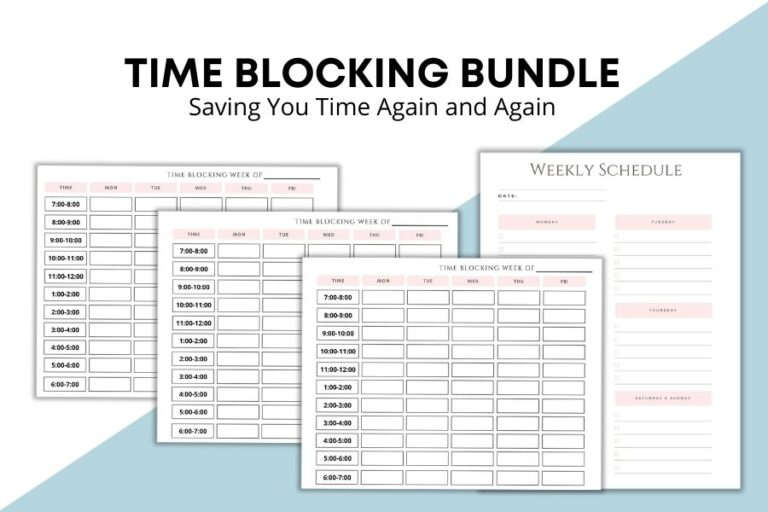 Effective Time Blocking Template for Busy Moms