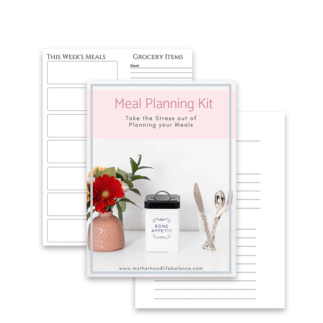 Meal Planning Template Kit