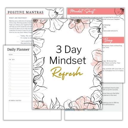 3 Day Mindset Refresh