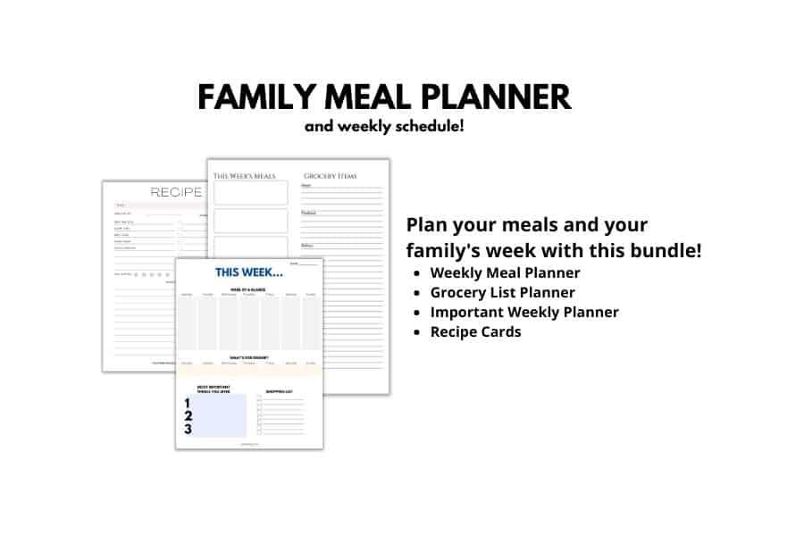 Meal Planning Bundle
