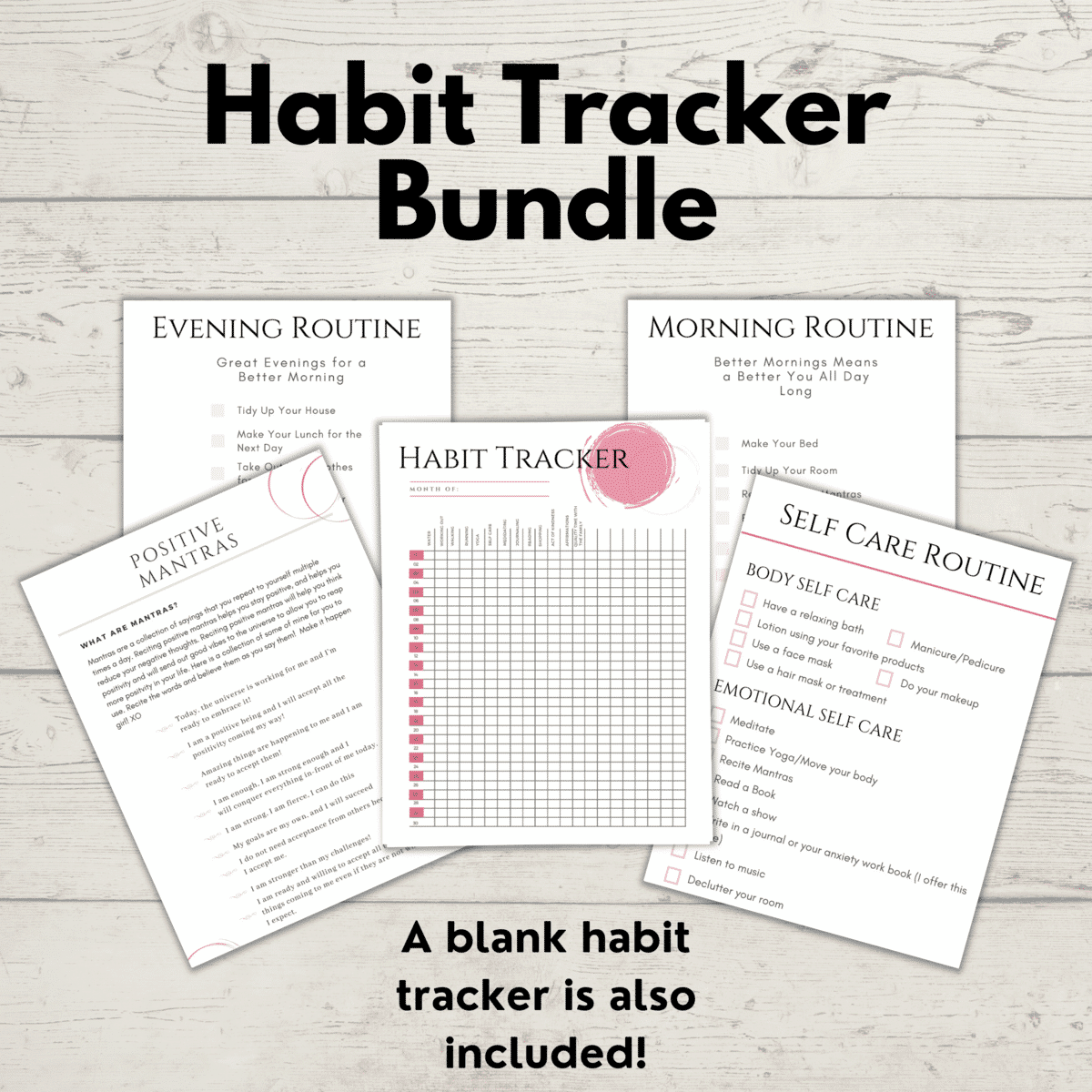 Habit Tracker Template for Moms