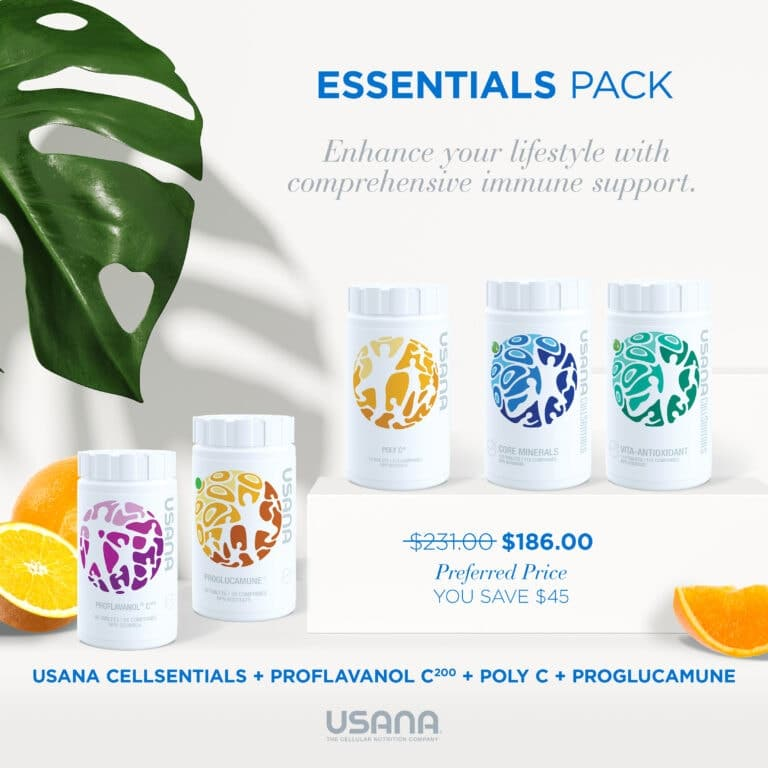Get Healthy with Usana Essentials Pack – The Start To Better Health